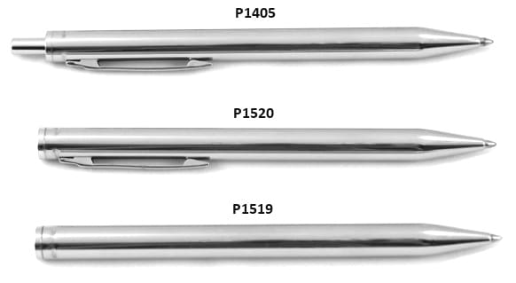Stainless steel pens