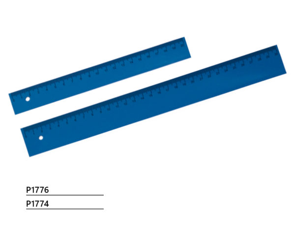 Plastic detectable rulers