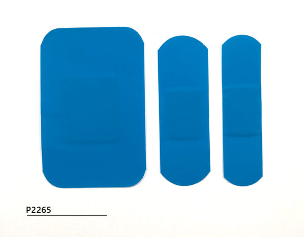 Detectable blue plasters