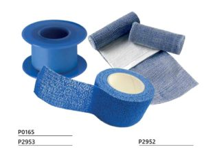 Blue plaster on spool (non-detectable)