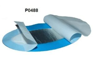Detectable blue hydrogel plaster for burns