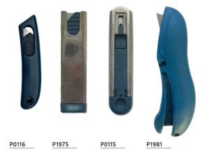 Detectable safety knife with retractable blade