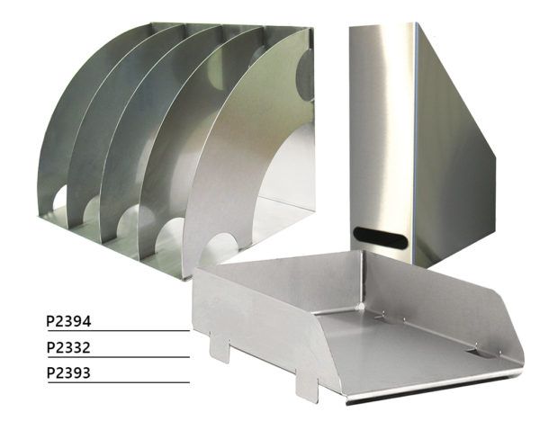 Stainless steel document shelf